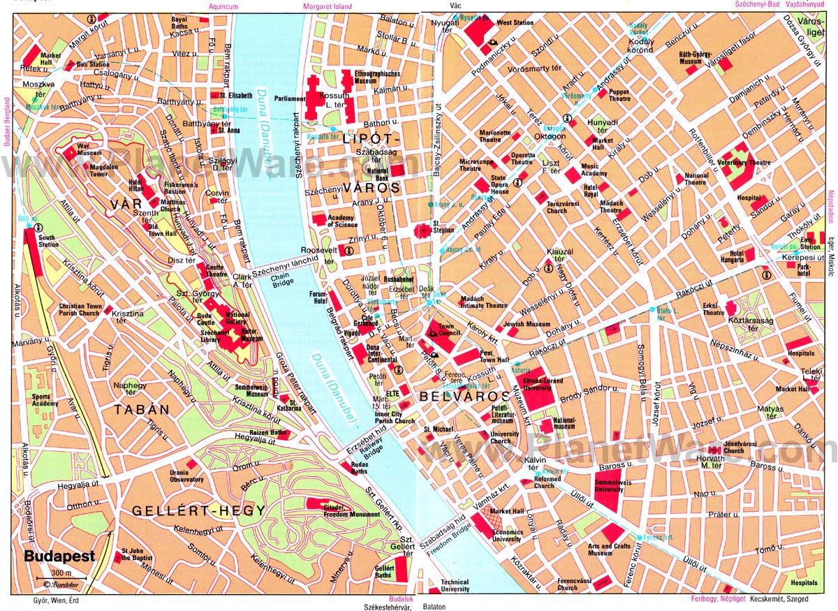 Budapest Terkep Budapest Informacios Portal