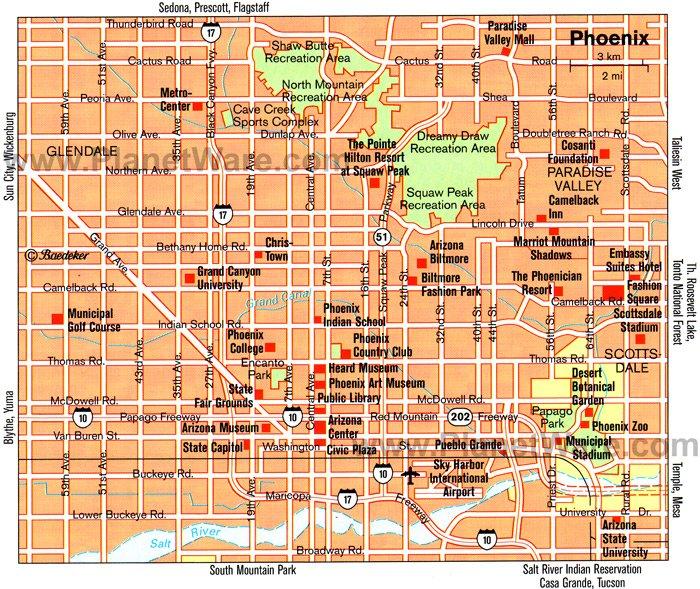Map Of Cities Around Scottsdale Az
