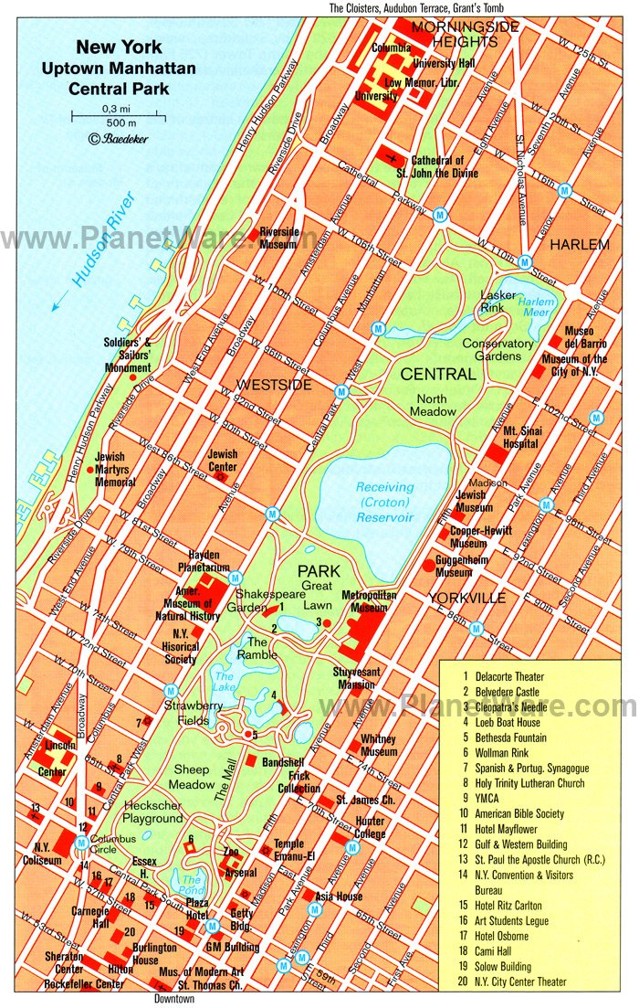 Attractions of Central Park Uptown Manhattan Central Park New York