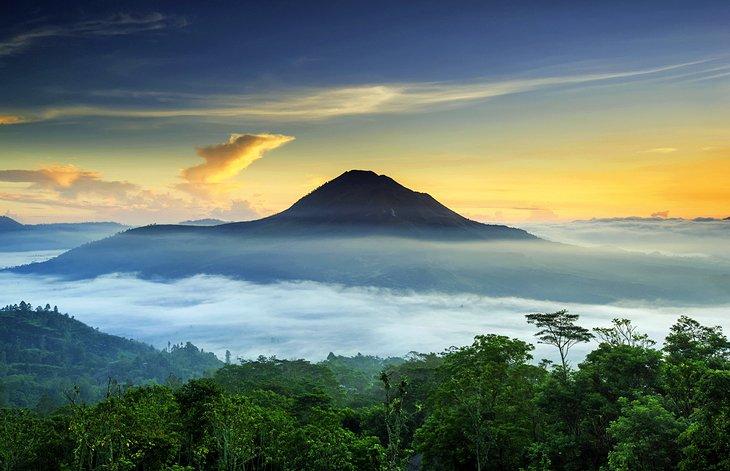 Mount Batur at sunrise