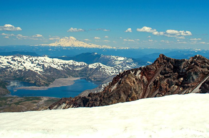 The view from Mount St. Helens summit