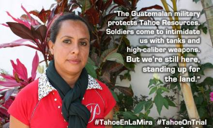Guatemalans appeal case against Tahoe Resources in Canadian court