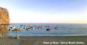 Playa Calahonda, en Nerja