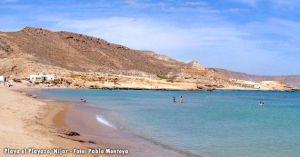 Playa el Playazo, en Nijar