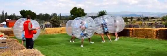 Fútbol burbuja para despedidas
