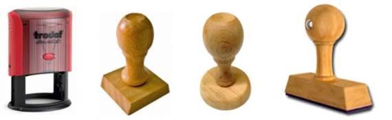Formas sellos de caucho