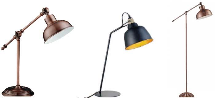 Lámparas de pie retro