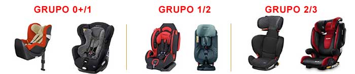 Grupos de sillas para bebés