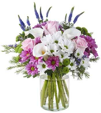 Ramos de crisantemos y rosas