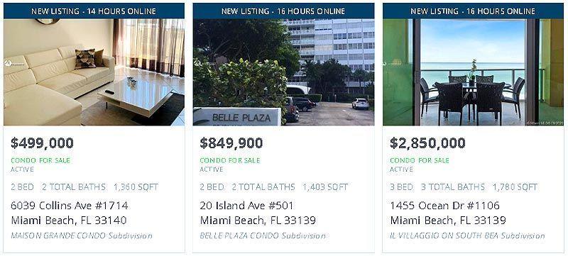 Viviendas en venta en Miami Beach
