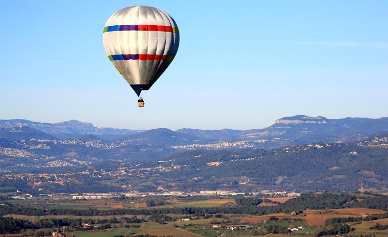 Parque natural de Montseny en globo