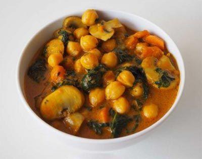 Curry de garbazos vegano