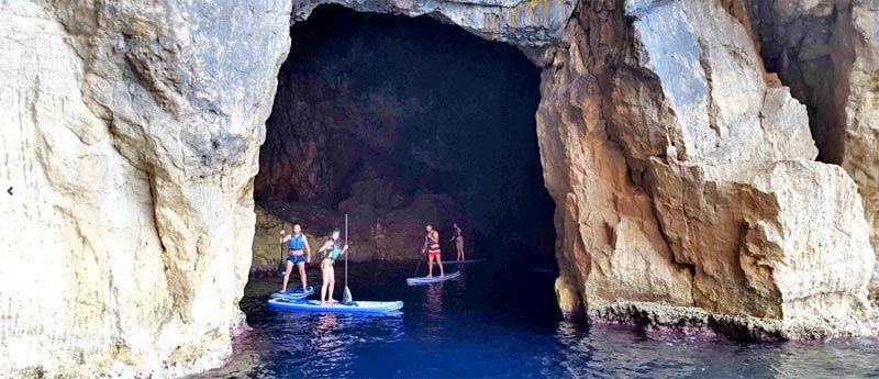 Excursión paddel surf Fornells Menorca