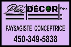 Logo-Conception d'aménagements paysagers-Plani-Décor