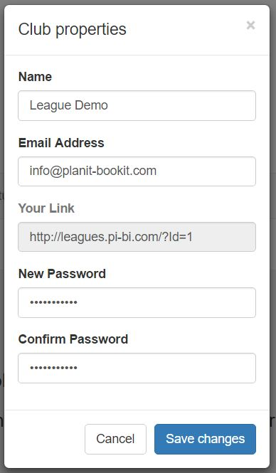 Next enter your New Password.  Then enter it again to Confirm Password and then click the blue Save changes button.