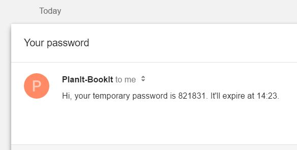 After a short while you should receive an email like this one.   Use your temporary password to sign into the system.