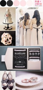 blush black wedding inspiration