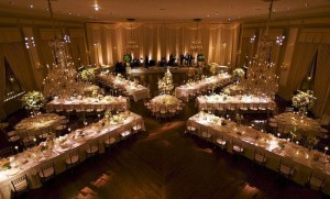 long tables wedding reception