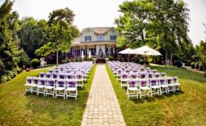 outdoor home wedding seating