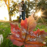 fall leaf save the date