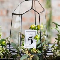 Black terranium geometric wedding