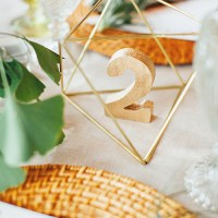 gold geometric table number