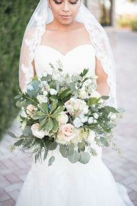 greenery atypical wedding bouquet
