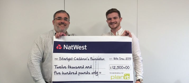 Starlight: Over the moon to receive £12,500