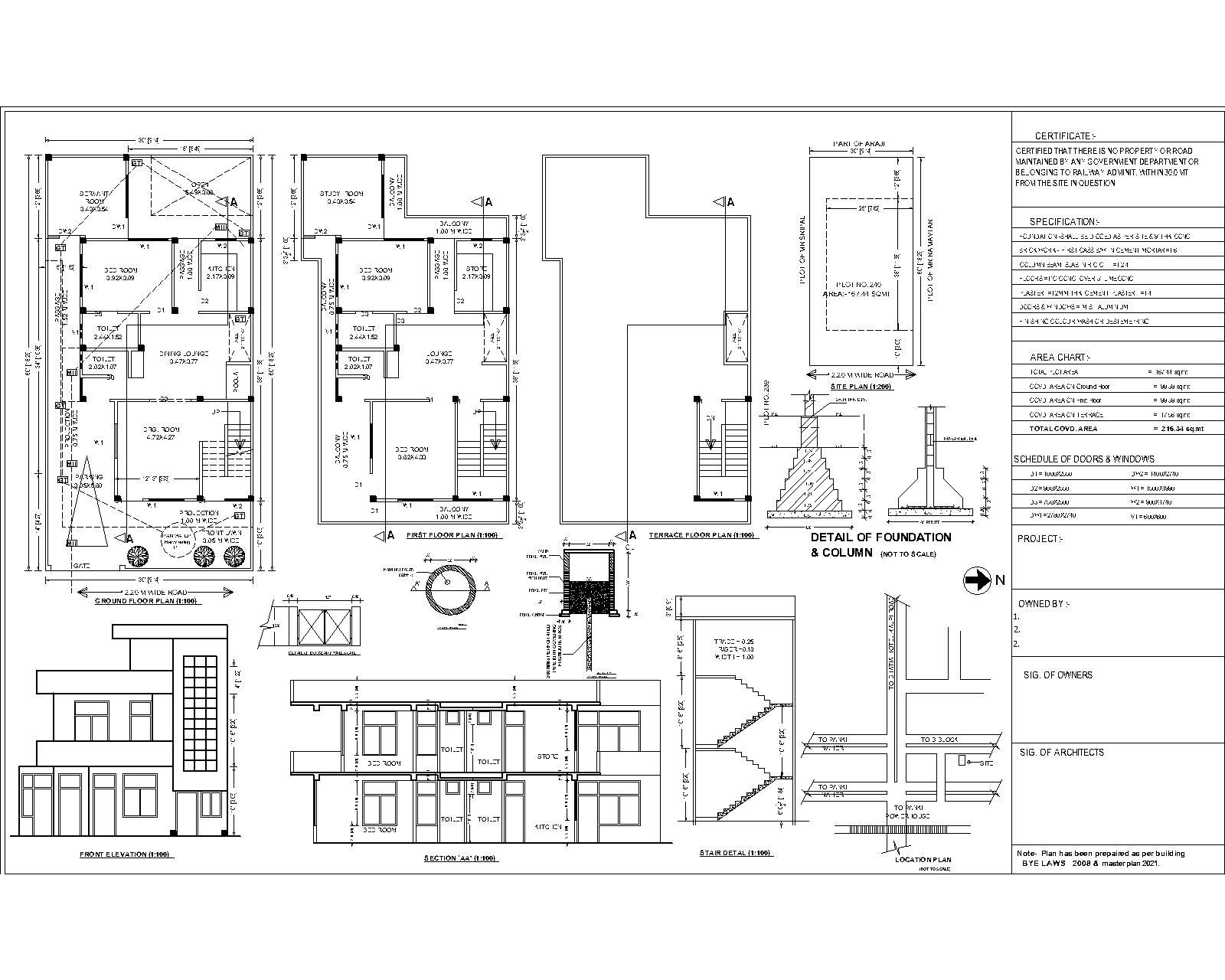 30 X60 Residential Working Drwaing