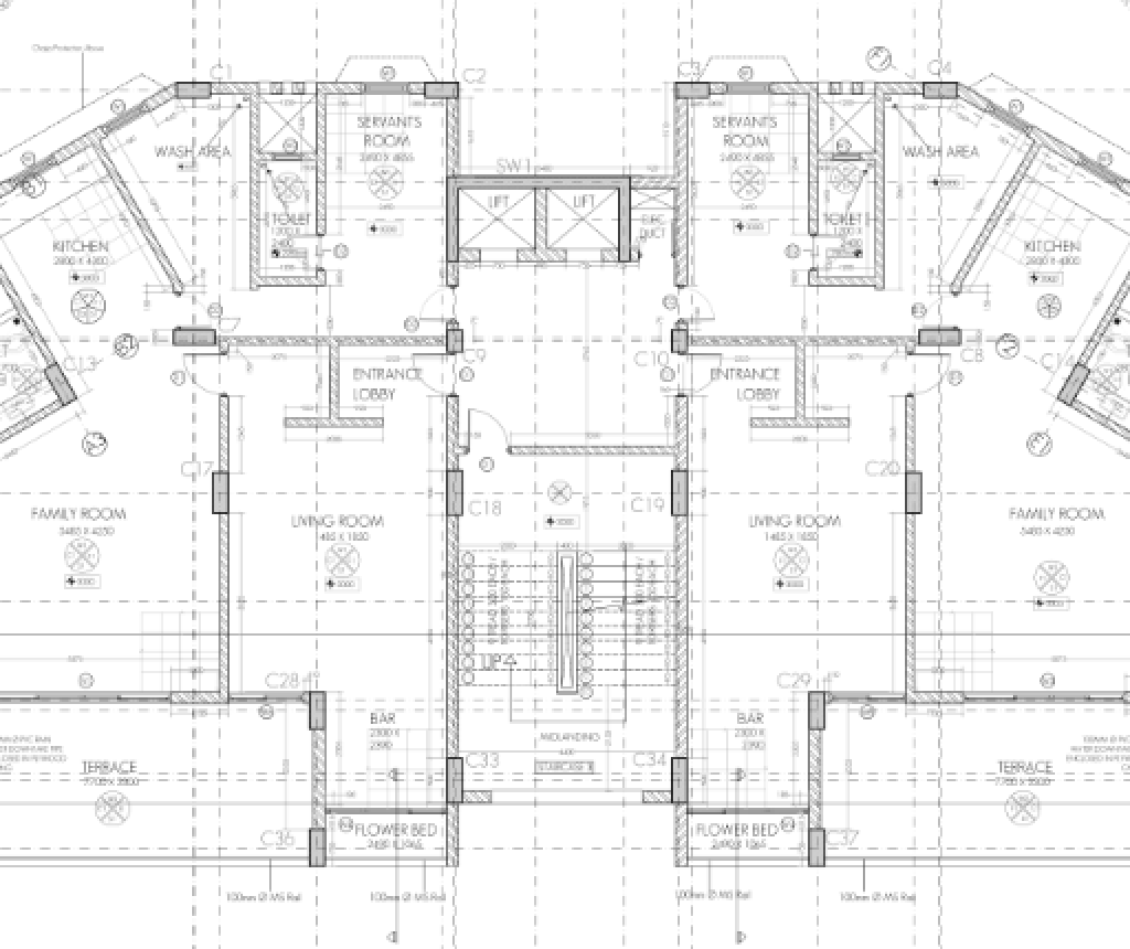 Working Drawing Floor Plan Dwg