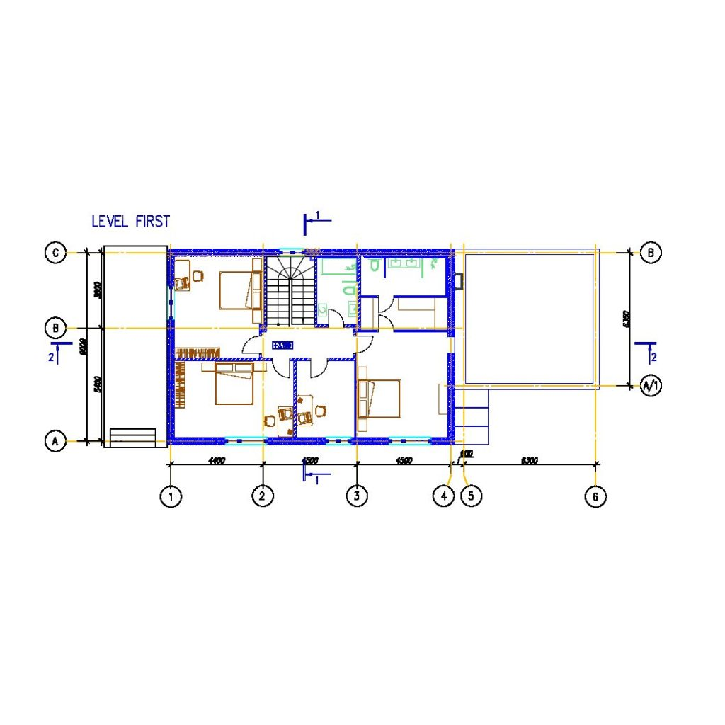 Modern House Plan 2D - CAD Files, DWG files, Plans and Details