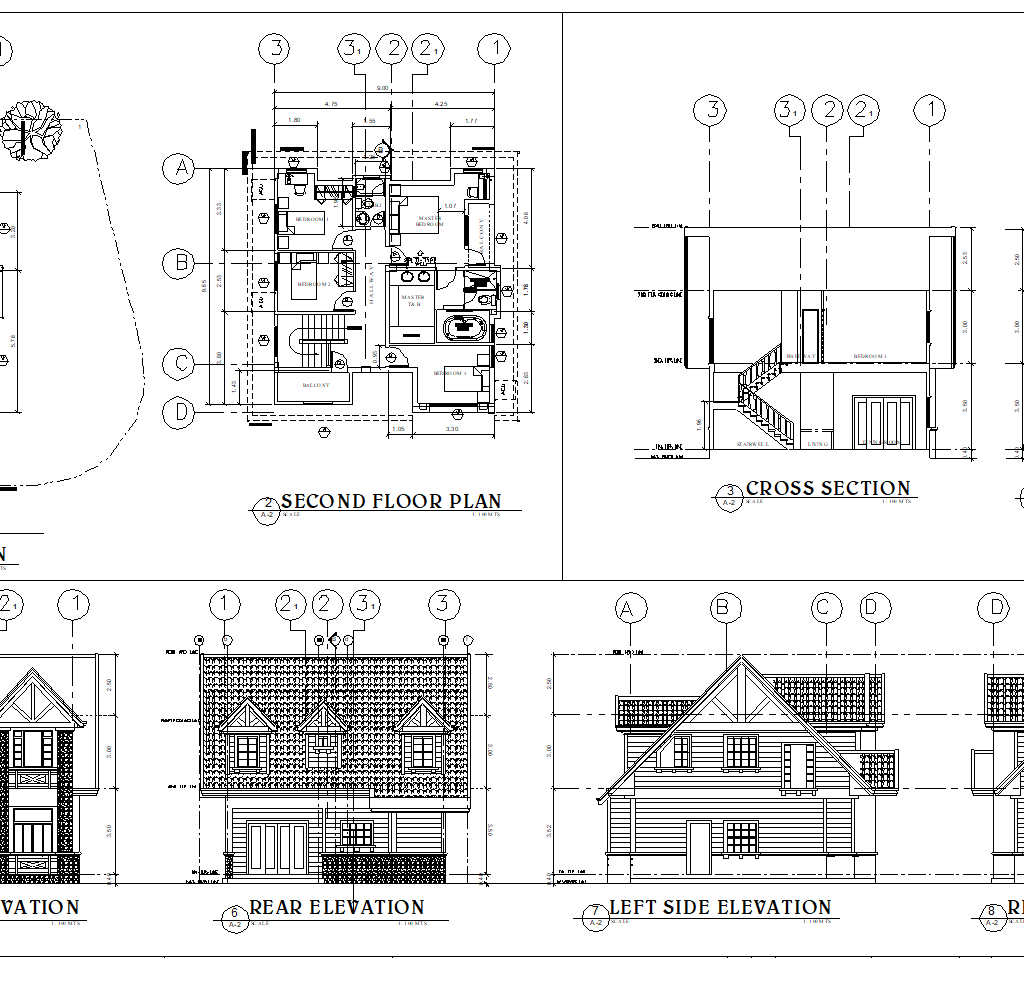 Two Storey Residence 160 Sqm American Theme