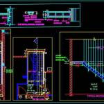 Wooden Floating Staircase Design Detail Dwg Drawing Autocad Dwg Plan N Design