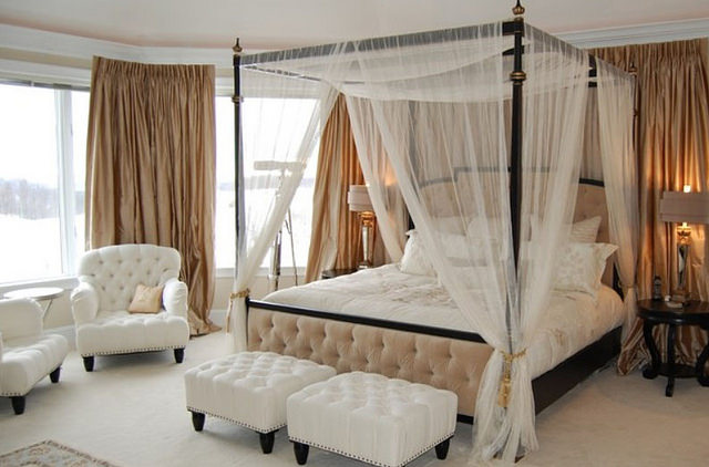 stylish curtain canopy beds to make