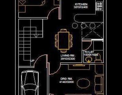 House Architectural Space Planning Floor Layout Plan 20X50 Free DWG Download Autocad DWG