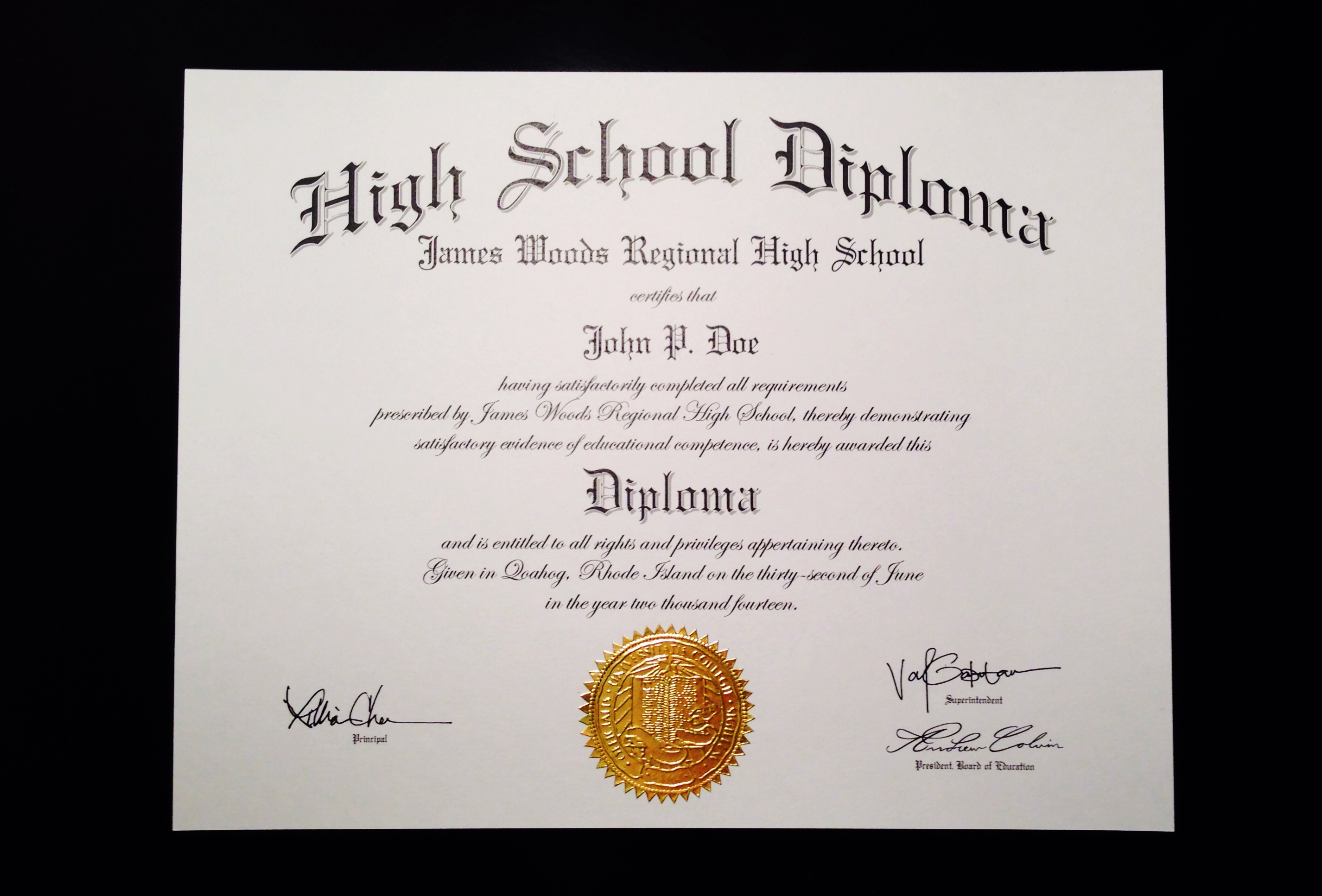 Create High School Diploma
