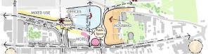 sketch plan view of urban masterplan
