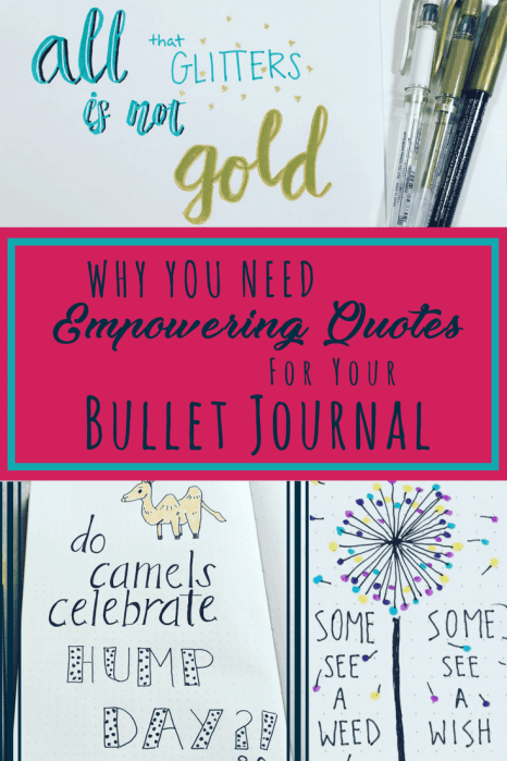 Quotes Journal Simple Empowering Quotes For Your Bullet Journal  Planning Mindfully