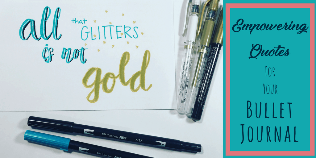 Want to try empowering and motivational quotes in your bullet journal? Some motivational quote suggestions to enhance your cover, your weekly layouts, and your trackers. Suggests what types of quotes to include in your bullet journal to increase motivation, productivity, and organization.