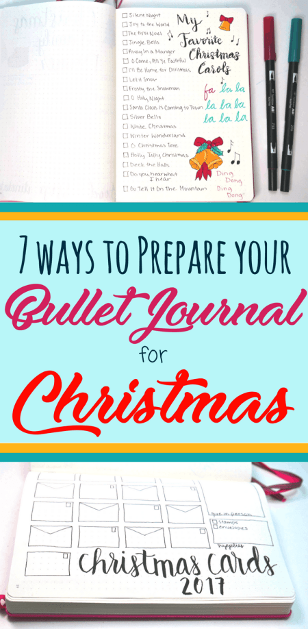 7 Jolly Bullet Journal Ideas for Christmas - Planning Mindfully