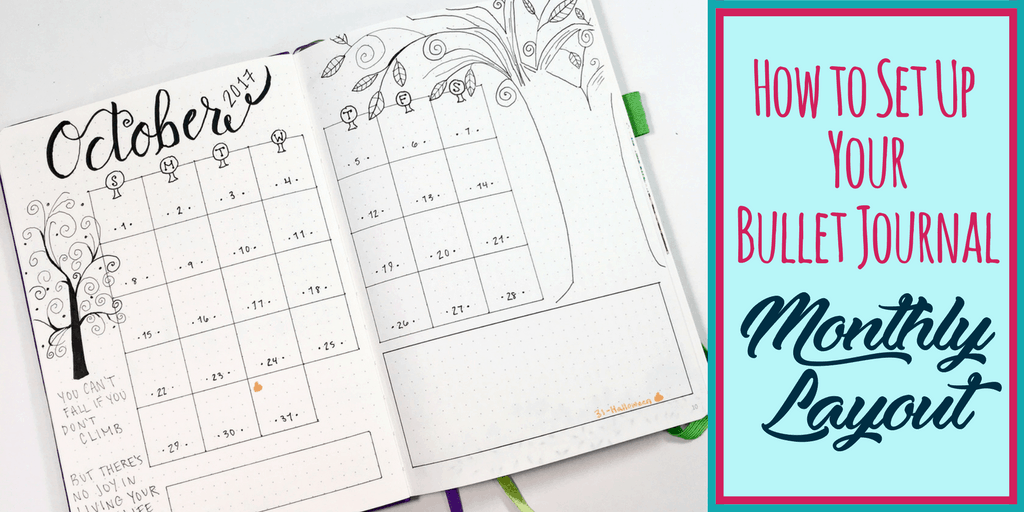 How To Set Up Your Bullet Journal Monthly Layout