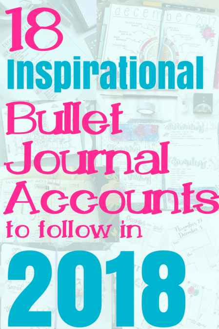 What you've been waiting for, here is the list of the 18 most inspirational and influential bullet journal accounts for 2018! This article brings everything bujo straight to you! Get information about layouts, blog posts, ideas, setup, supplies, and so much more. This is a perfect place if you want to know how to start a bullet journal. Go check out all the artists, click on their links, and be prepared to enjoy a full calendar year of inspiration! #bulletjournal #bulletjournalcommunity #bulletjournalideas #bulletjournalaccounts