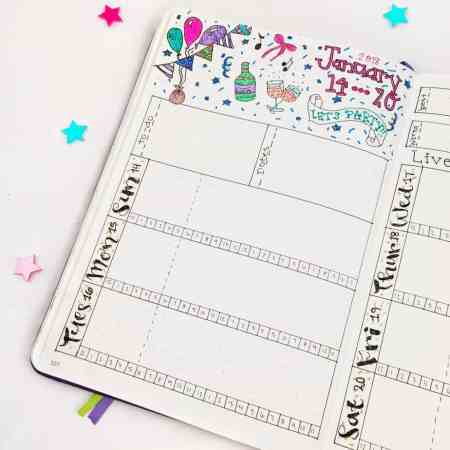Learn how to set up the perfect bullet journal weekly layout! Get tons of inspiration from your favorite bullet journal accounts. Educate yourself with tons of tips, tricks, ideas, and examples to optimize your bujo weekly spreads. Find out more about weekly trackers, weekly calendars, daily sections, and both simple and detailed options for a beautiful bullet journal. #bulletjournal #bujo #planning #bulletjournalideas #timemanagement