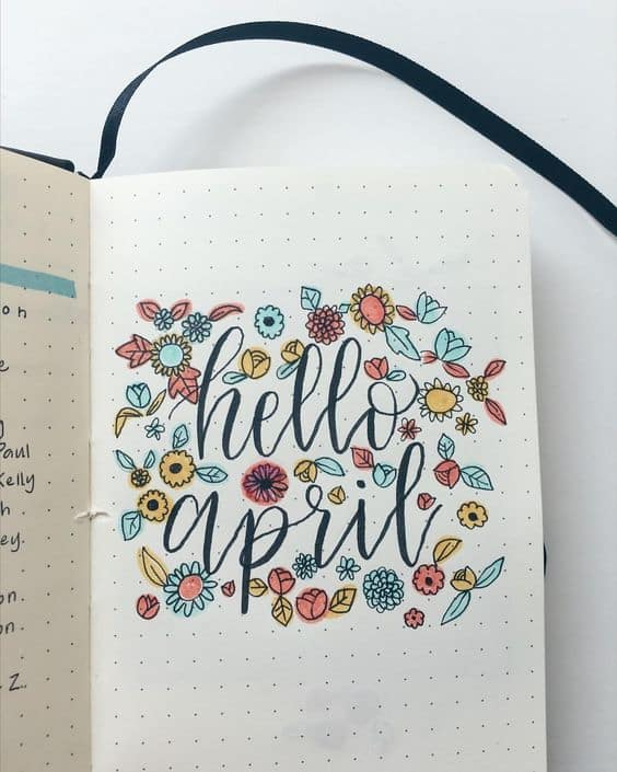spring bullet journal set up ideas planning mindfully