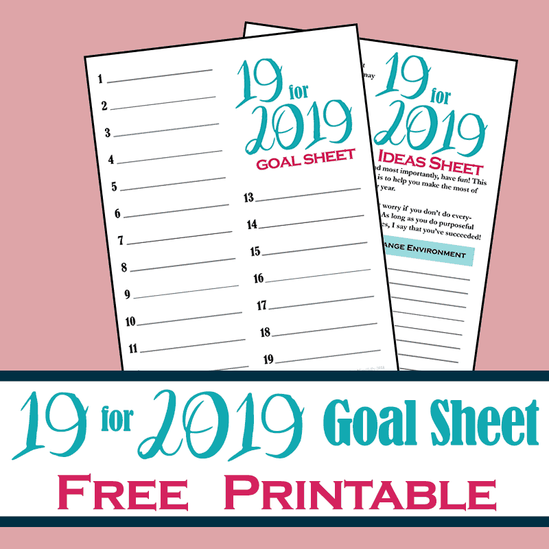 19 for 2019: Achieve Your Goals for an Amazing Year (With