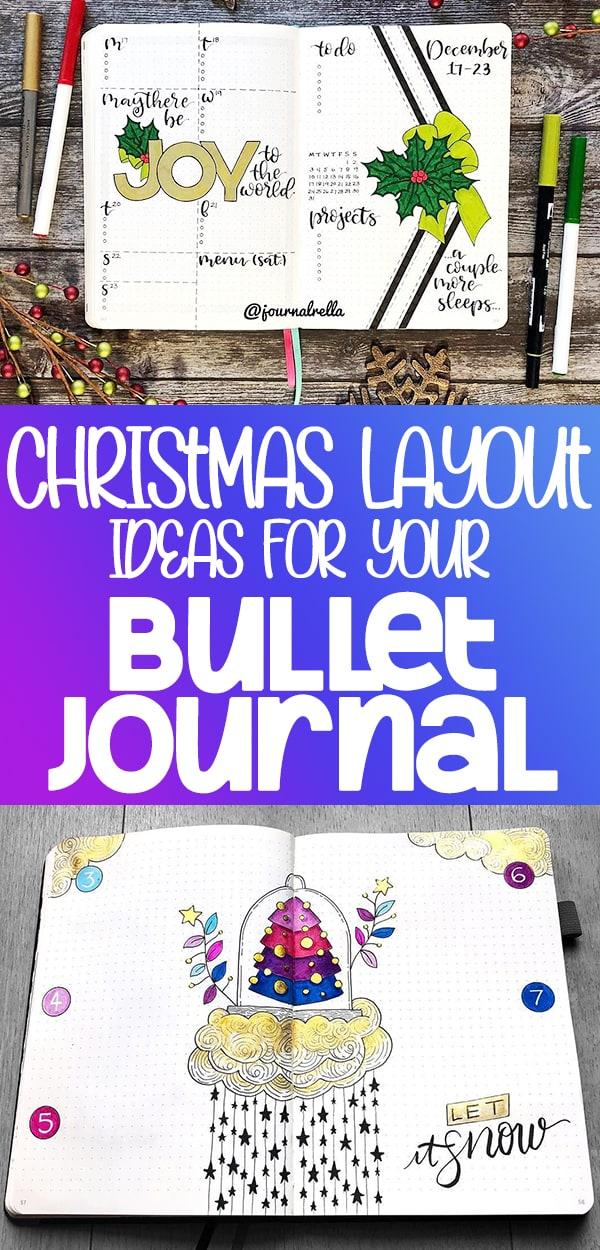 Christmas layout theme image for Pinterest