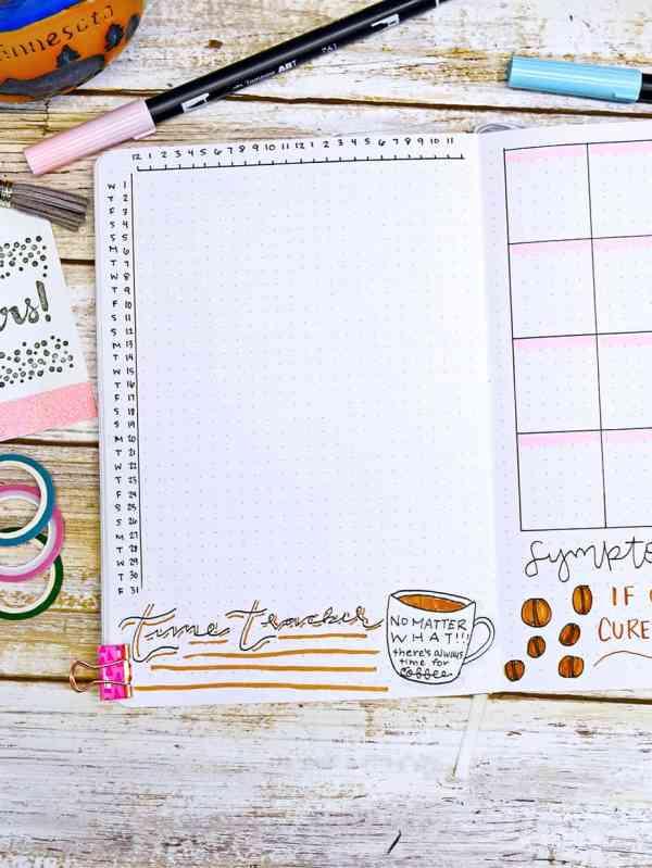 Bullet journal time tracker