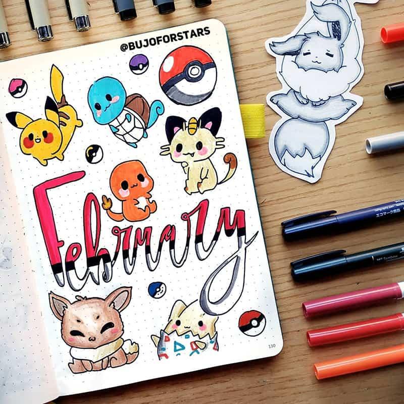 Pokemon and pokeballs doodles