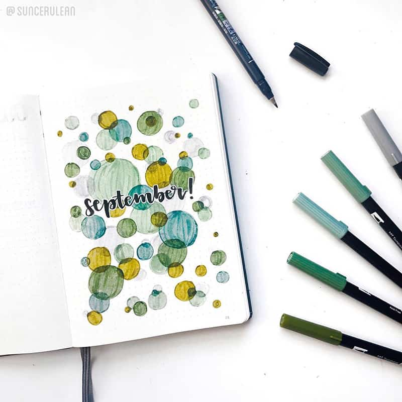 September circle cover page