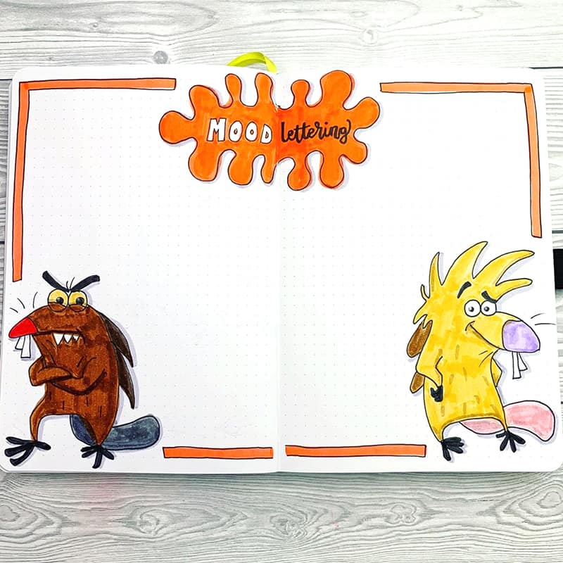 Angry beavers nickelodeon mood page